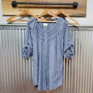 Blue jean dress or tunic